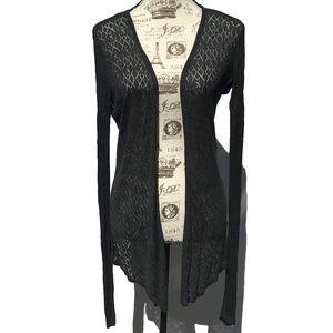 ♛5/$25♛ Belldini Open Front Silk Cardigan M Lace